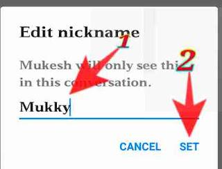 fb messenger me kisi ka bhi nickname set kese kare 6