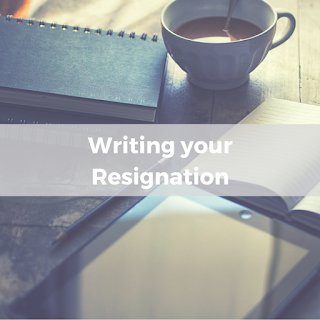 Writing your resignation