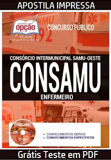 Apostila CONSAMU Enfermeiro - Samu Oeste PR - Impressa