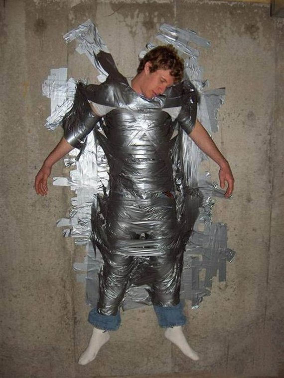 Pics Of Drunks: Many uses for tape when your drunk!!!