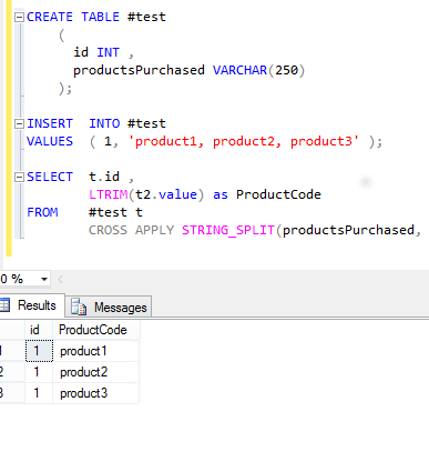 The STRING_SPLIT Function in SQL Server - Article on SQLNetHub