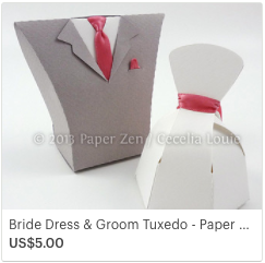 SVG Bride Groom Gift Box for Wedding