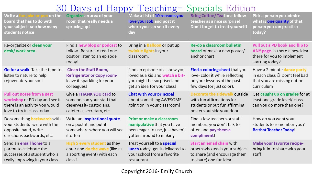 emily s kodaly music terrific teacher tips to motivate and need more ideas check out my 30 days of happy teaching specials edition it s i plan to do it over and over and over this year