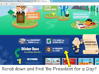 Presidents Day free online project- Presidents Day Lessons and Activities- with a link to a literacy center FREEBIE