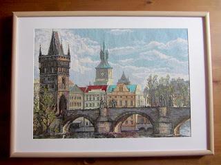 Прага. Карлов мост вышивка