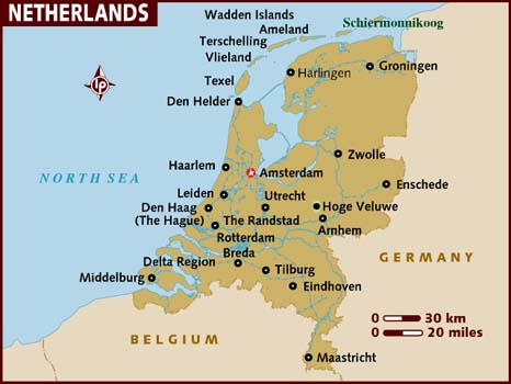 Map Of Netherlands Holland Nederland Cities Pictures