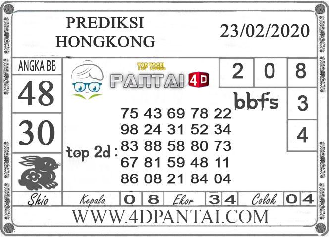 PREDIKSI TOGEL HONGKONG PANTAI4D 23 FEBRUARI 2020