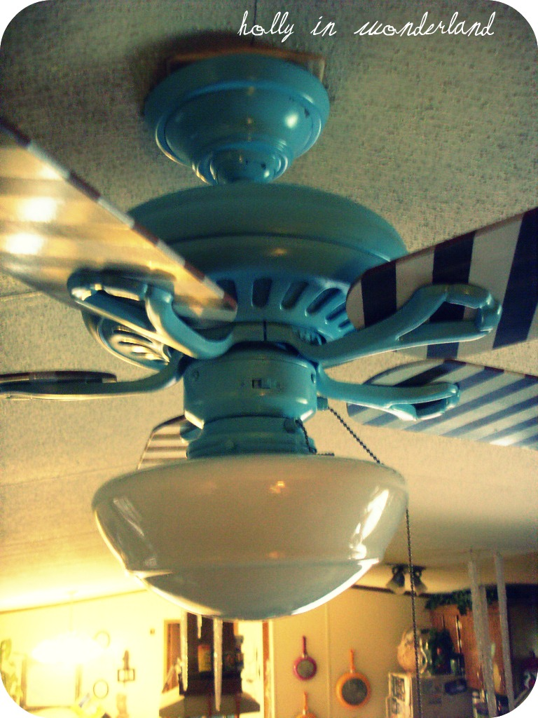 Painted Ceiling Fan Holly In Wonderland