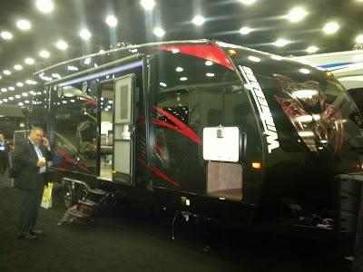 National RV Trade Show: Winnebago Spyder fifth-wheel toy hauler