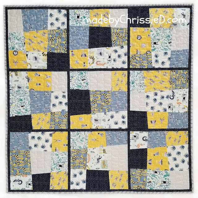 Tilted Nine Block Quilt Pattern by www.madebyChrissieD.com