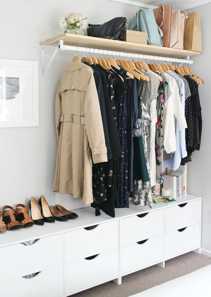 10 ideas para un vestidor abierto lowcost - Vestidores Abiertos