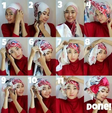 Tips Cara Mudah Pakai Hijab Turban Pesta Gaya Baru