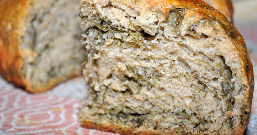 Rye bread (baking after a long gap) - creating an herb loaded artisan bread the no knead, no mess way