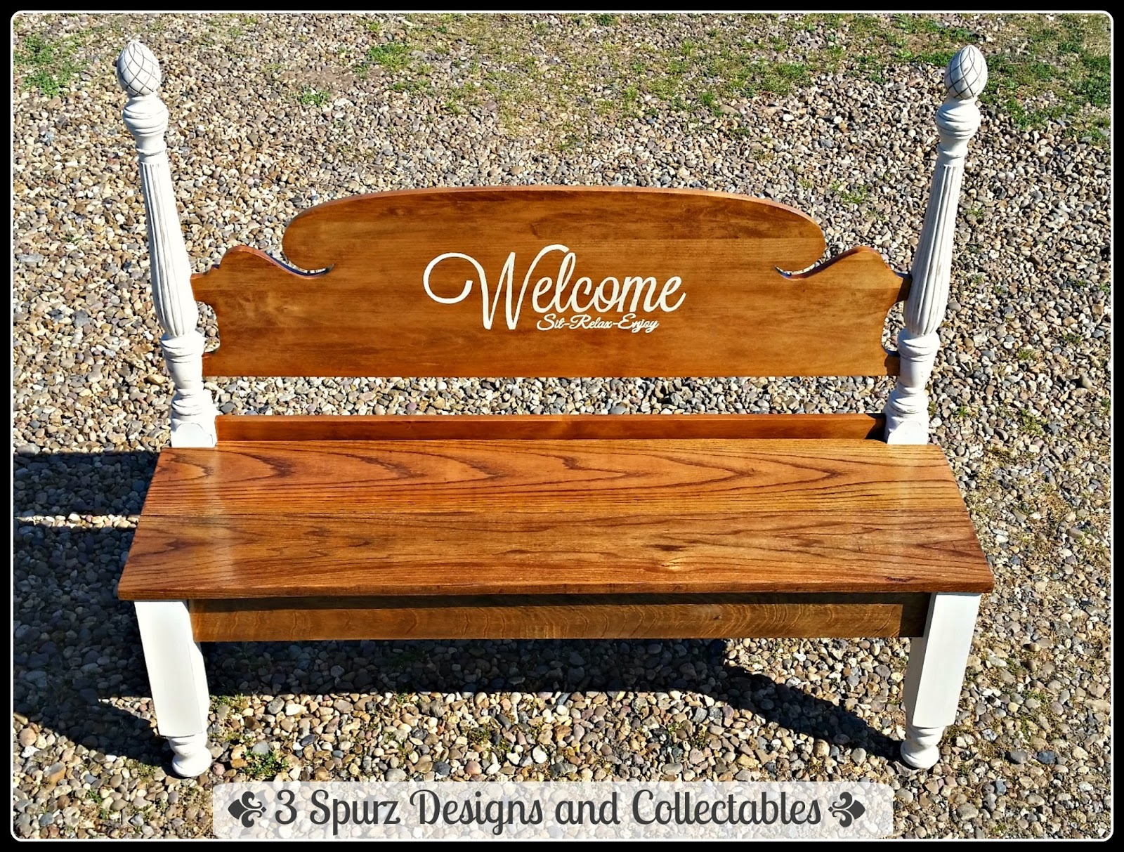 3 Spurz Dandc Repurposed Refurbished Creations Headboard Bench