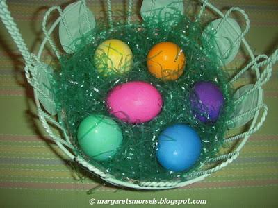 Margaret's Morsels | Gel Icing Color Easter Eggs