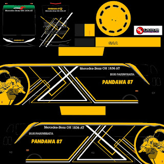 Download Livery Bus Pandawa 87 Wayang
