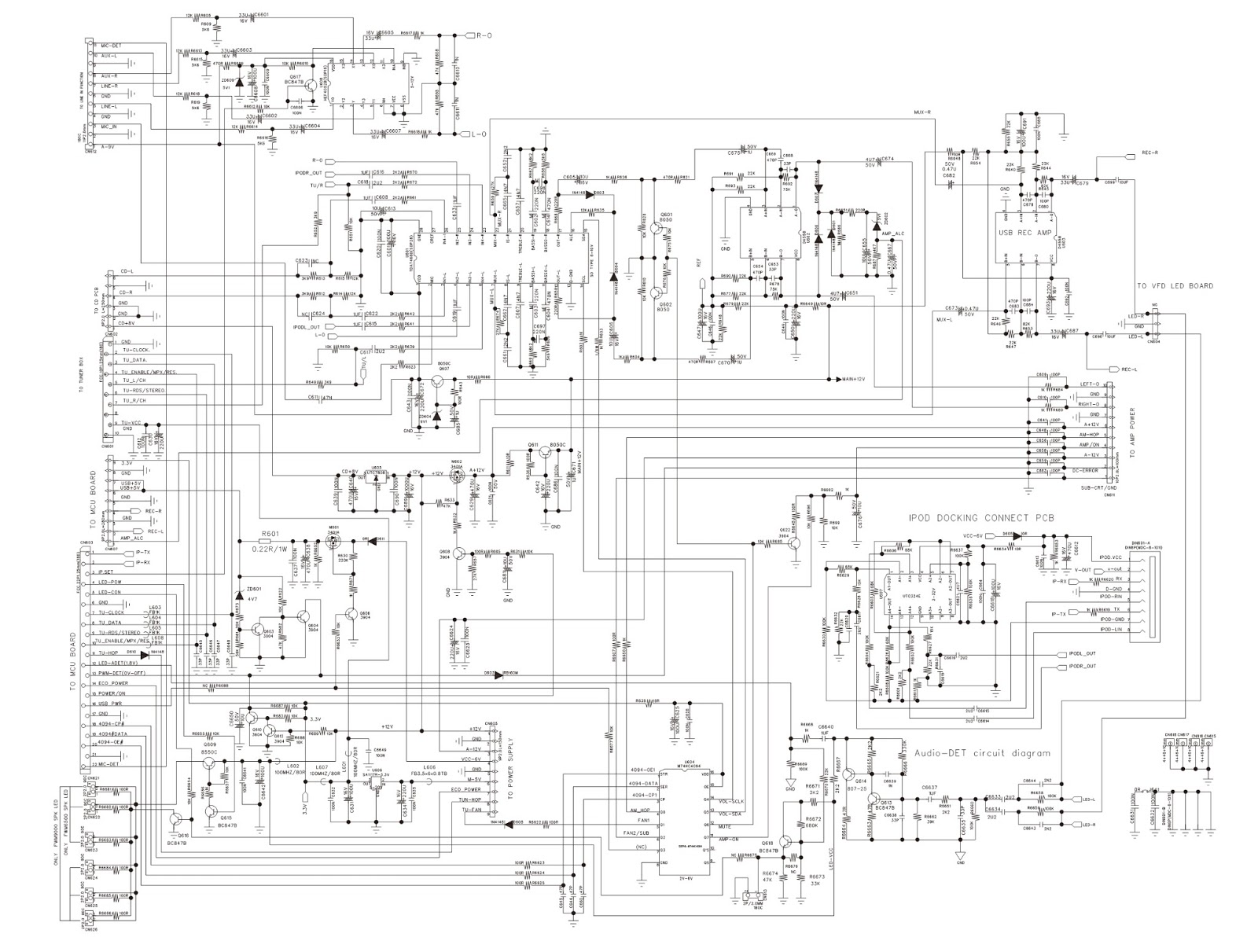 PHILIPS FWM6500  SCHEMATIC DIAGRAMS  Printed Circuit