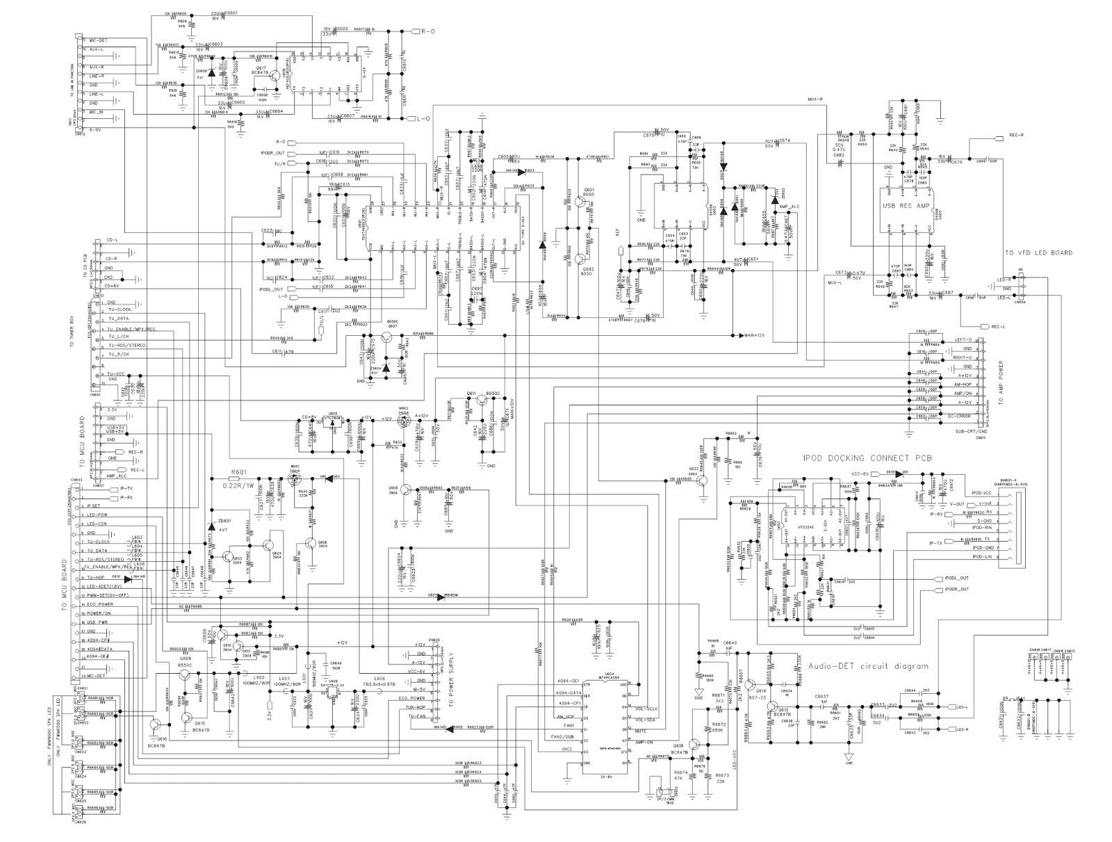 PHILIPS FWM6500  SCHEMATIC DIAGRAMS  Printed Circuit