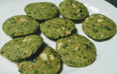 Flat round shape vegan Patty Hara bhara kabab