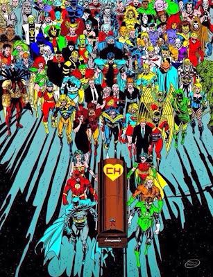 Ataud de roberto gomez bolaños con todos los super heroes