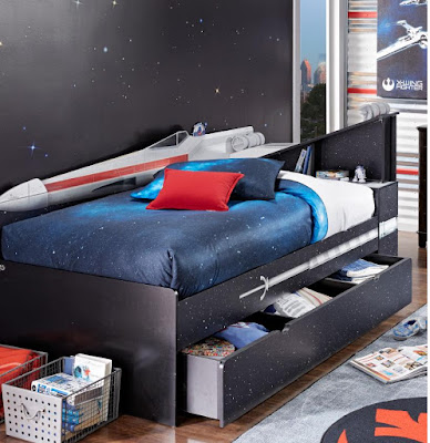 Starwars Xwing Twin Bookcase Bed