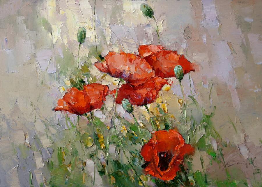 Im genes arte pinturas cuadros sencillos de flores rojas for Fotos de cuadros abstractos sencillos