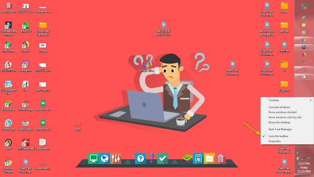 Semua niscaya tau fungsi dari sajian ini yakni menampilkan kegiatan yang sedang di buka pada  Cara Memindahkan Posisi Taskbar Ke Samping atau Ke Atas Layar Monitor