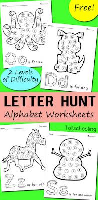 Letter Hunt Alphabet Worksheets2