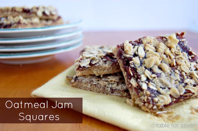 Oatmeal Jam Squares