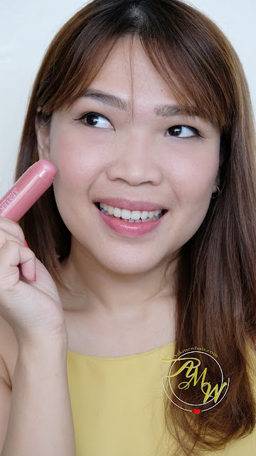 a photo of Nikki Tiu wearing Palladio I'm Blushing! 2-in-1 Cheek and Lip Tint Review