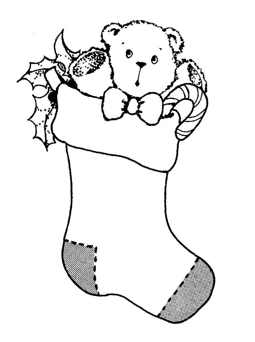 Black And White Christmas Clipart.Stocking Clip Art Black And White Christmas All Hd