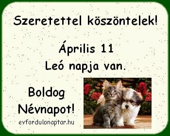 Április 11 - Leó névnap