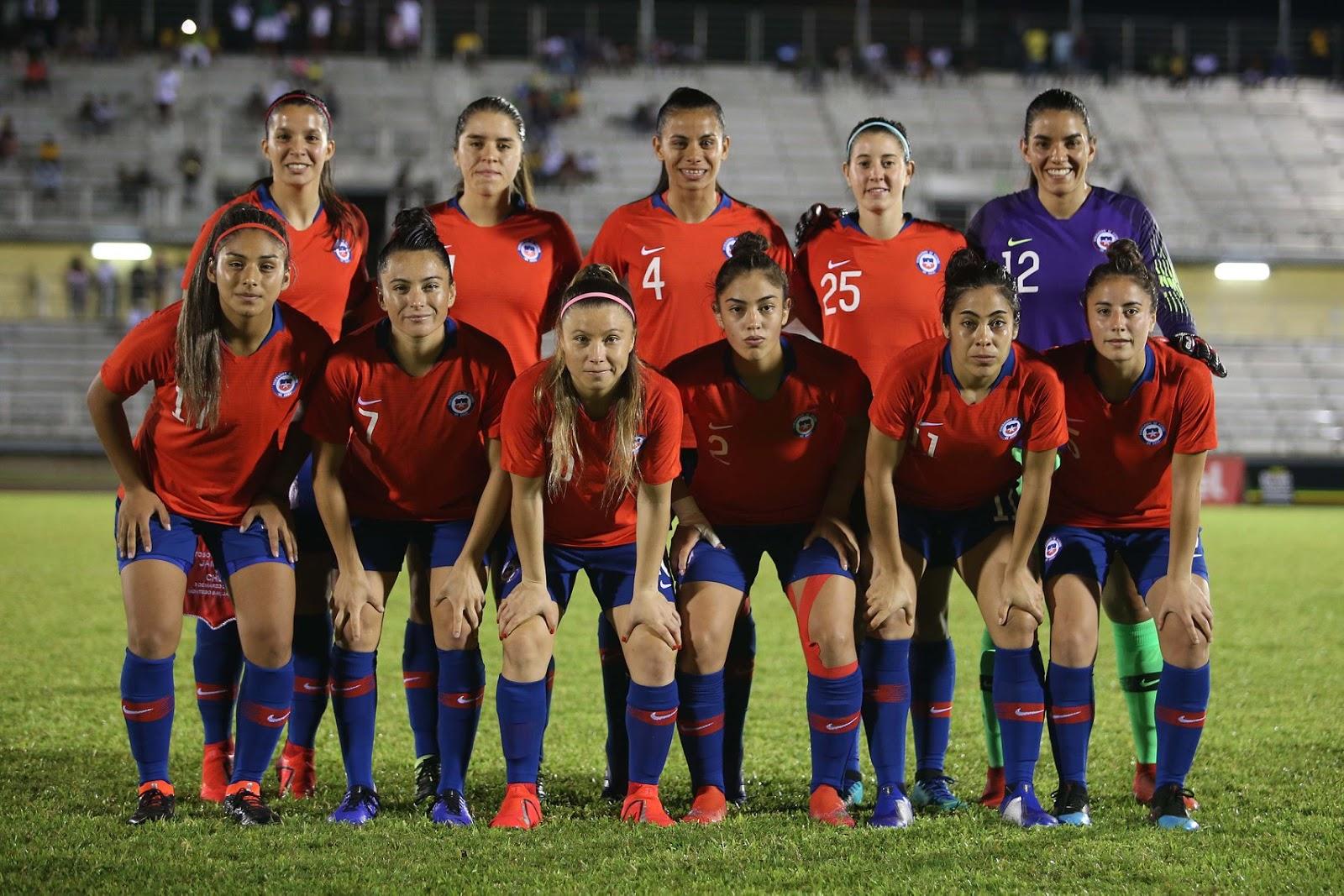 Formación de selección femenina de Chile ante Jamaica, amistoso disputado el 3 de marzo de 2019