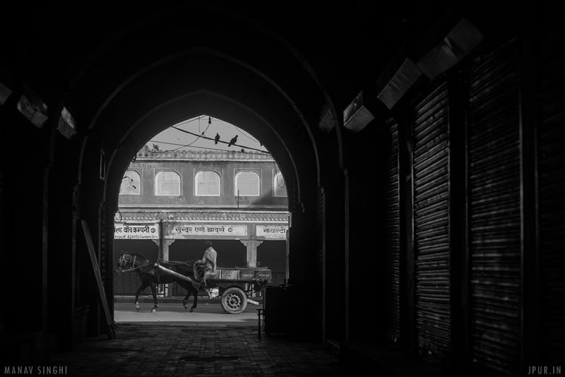 Black and White Street Photography near Choti Chopar, Jaipur.
