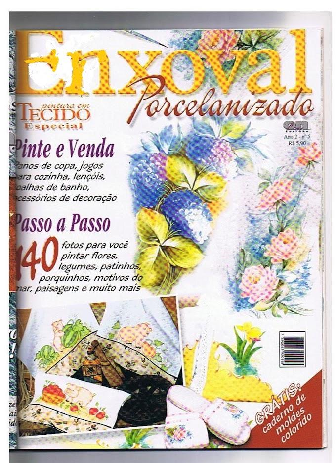 Pintura Em Tecido Porcelanizada Enxoval-N°05 Ano 2001