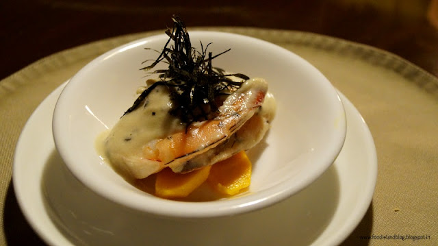 Prawns with Ginger, Sesame and seaweed @ A Romantic Dining Experience @ Grasshopper | Bangalore
