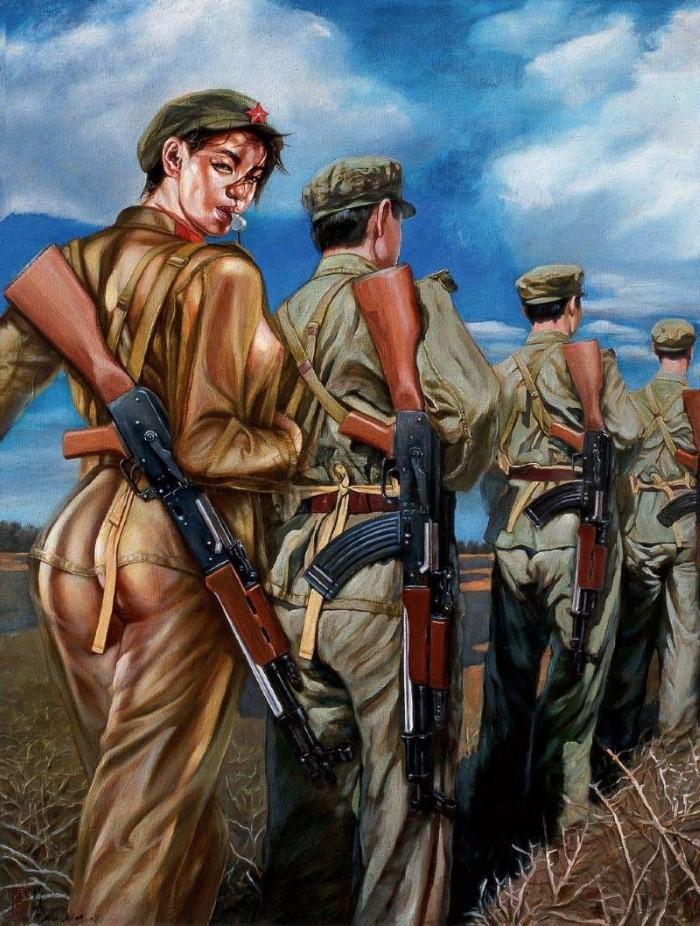 Девушки из Народно-освободительной армии. Hu Ming 5
