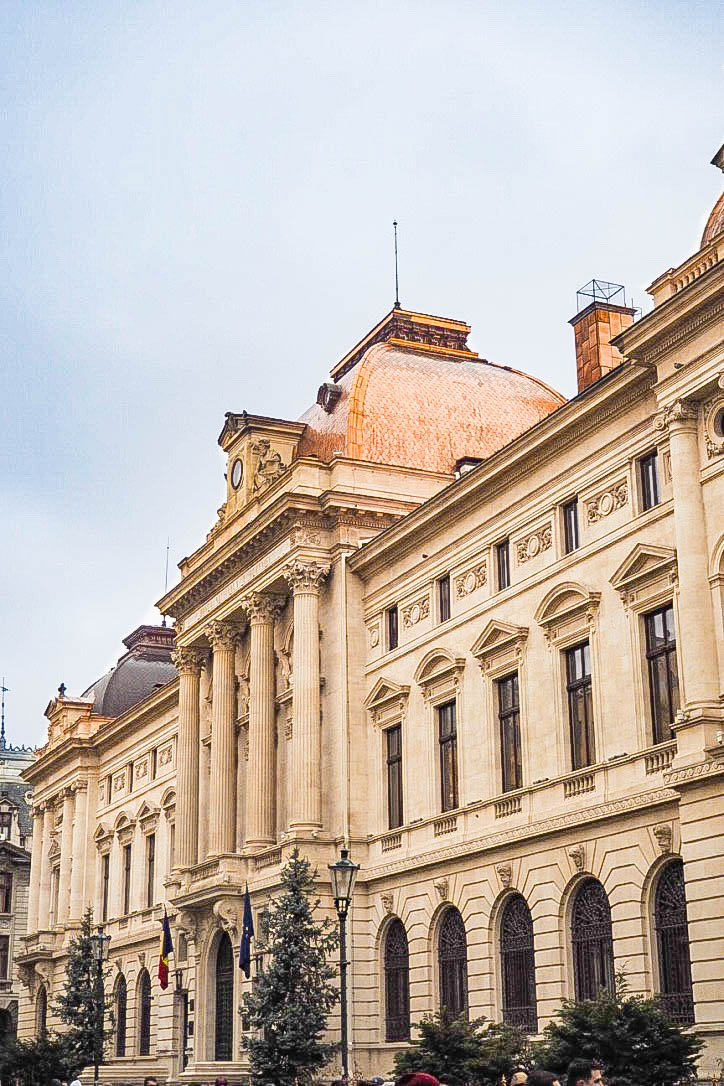 Copper roofed building, Bucharest, Romania