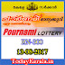 Pournami Lottery RN-300 Results 13-8-2017