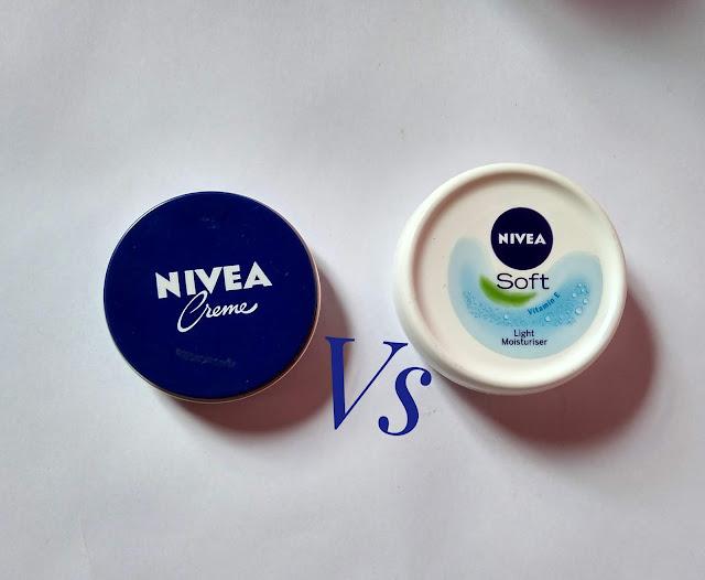 Nivea cream vs Nivea Soft Light moisturizer. Which one is better?