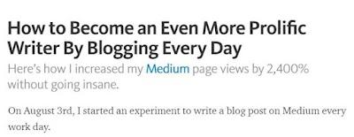 Miércoles de Recomendaciones: Cómo convertirte en un escritor más prolífico bloggeando todos días