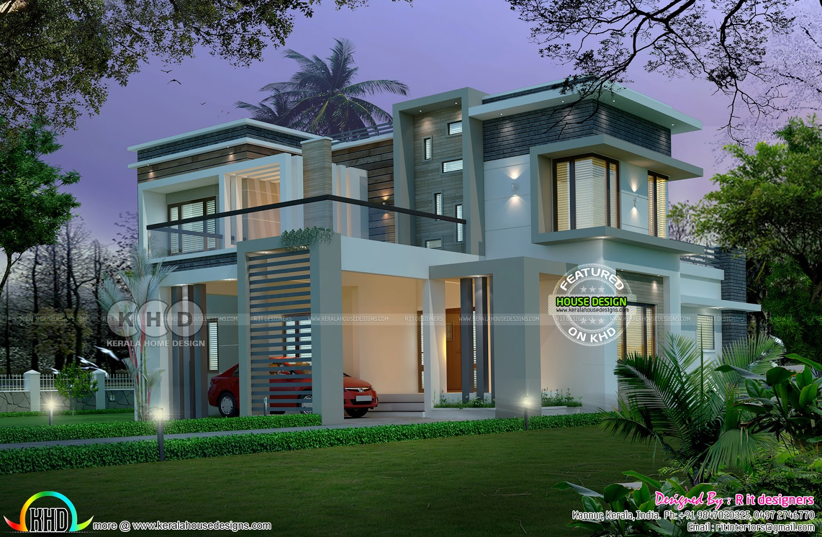 R It Designers (home Design In Kannur) Part - 42: 2755 Sq-ft, 4 Bedroom Modern Contemporary Home