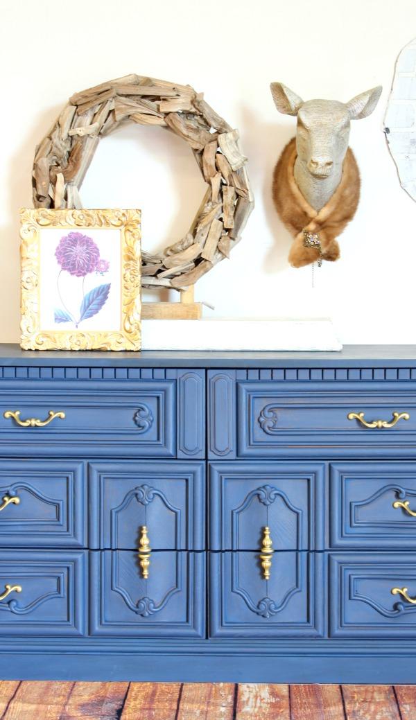 blue dresser, painted blue dresser, before and after furniture, blue inspiration