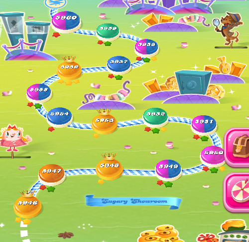 Candy Crush Saga level 5946-5960
