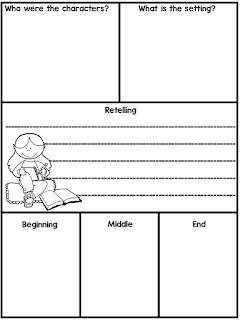 This organizer is part of a post on story retellings. Stop by for a complete lesson using James Marshall's version of Goldilocks