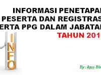 INFORMASI PENETAPAN PESERTA DAN REGISTRASI PESERTA PPG DALAM JABATAN TAHUN 2018