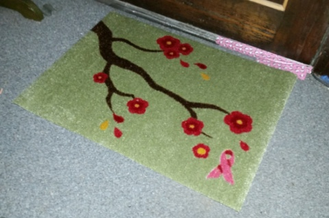 carpet one breast cancer welcome mat branches design 1