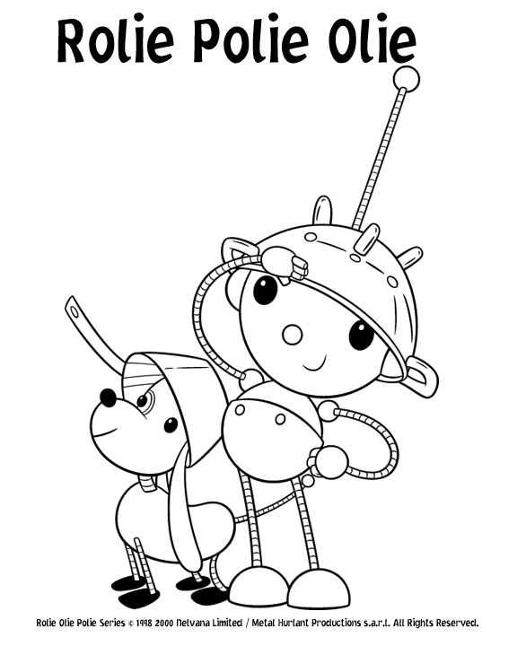 Cartoon characters rolie polie olie for Rolie polie olie coloring pages
