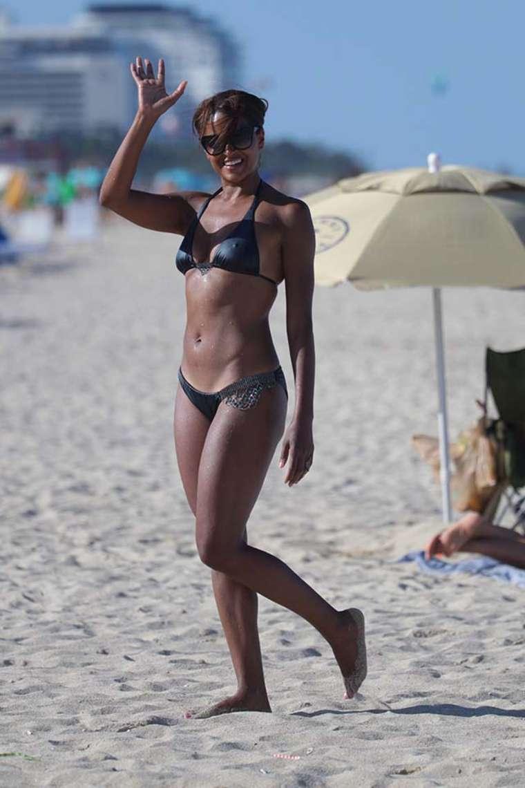 Claudia Jordan – Wearing Bikini on Miami Beach | Indian ...