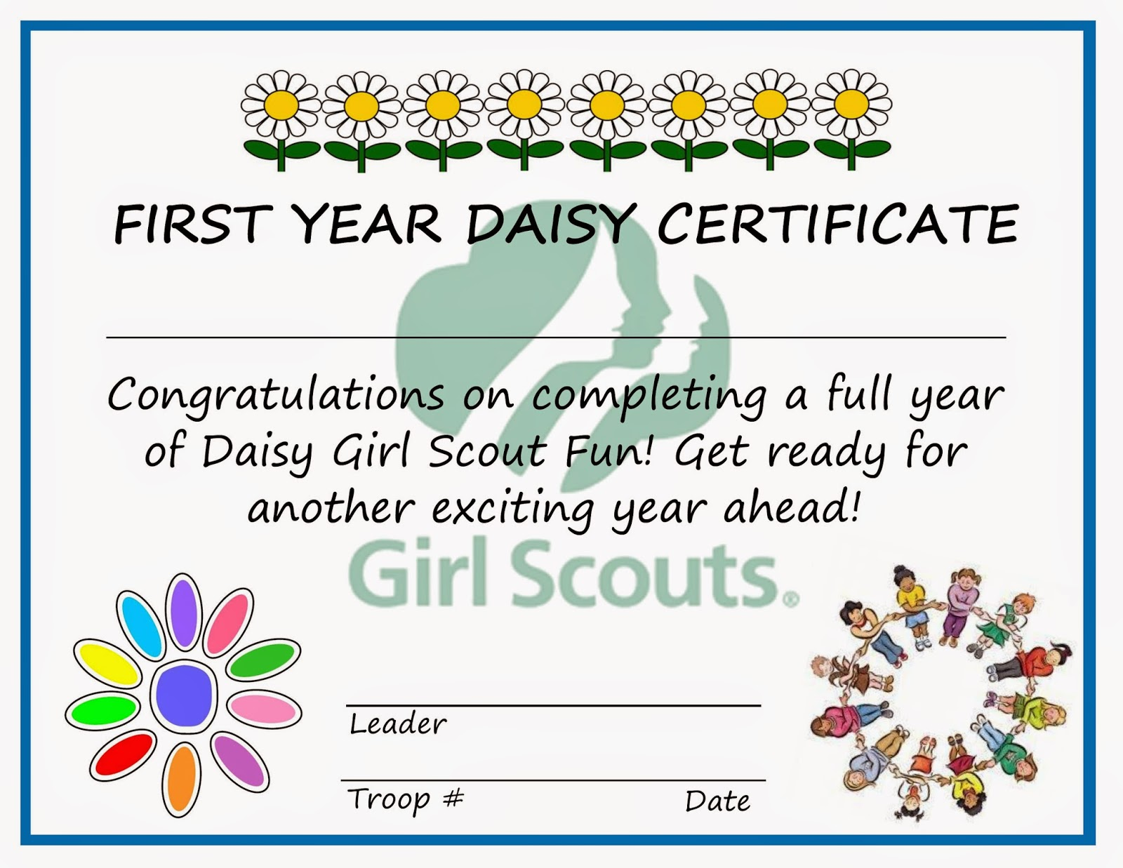 Pin Girl Scout Certificate Templates